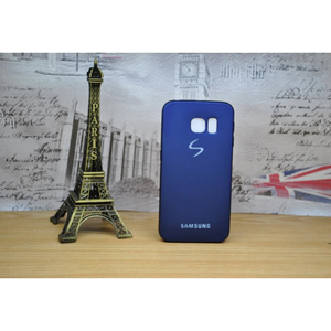 Soft Matte TPU Back Cover for S6 Edge Blue