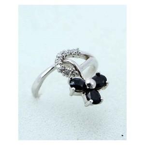 GILGIT BAZAR Sapphire Stone Ring GB1898 Black &amp ...