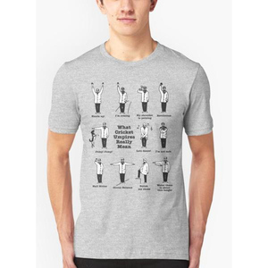 What Cricket Umpire Really Means T-Shirt For Men VZ-177 Grey