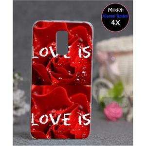 Xiaomi Redmi 4X Love Style 5 Mobile Cover Red