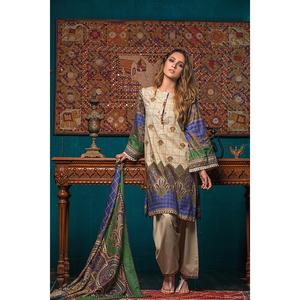 Oaks 3 Pcs Unstiched Jacquard Embroidered Suit For Women OWKHJE3P-3213-B Multicolor