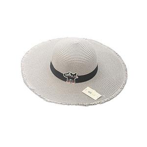 Cat Patch Sun Hat Adult Models Grey