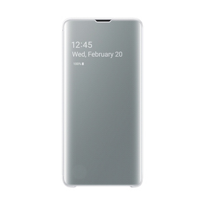 Samsung Galaxy S10 Clear View Case White