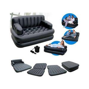 5 In 1 Sofa Cum Bed Black EZ-19