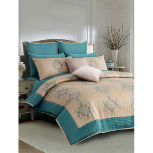 Khas Dusky Baroque Bed Set Accessories Turqoise & Oyster