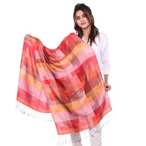 Long Tassel Cashmere Printed Stole/Scarf for Women ...