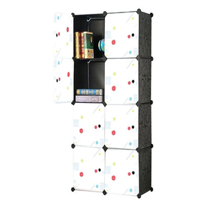 Oddity Diy 8 Cubes Elegant Stripes Storage Cabinet OD135 White