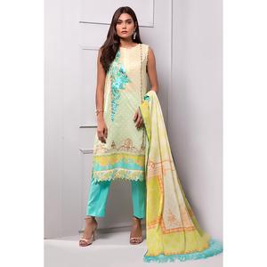 Oaks 3 Pcs Unstitched Suit for Women OLE-3364-A Multicolor