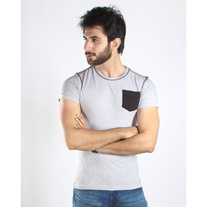 Red Tree Henley T-Shirt for Men RT1509 Grey