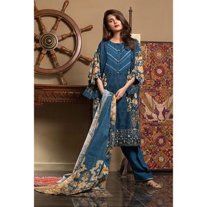 Oaks 2 Pcs Unstitched Khaddar Printed Suit For Women OWKH2P-3239-B Multicolor