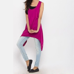 River Rock Polyester and Jersey Sleeveless Tunic 7 ...