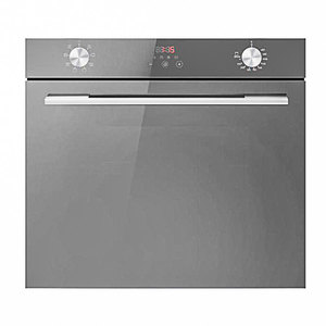 Crown Built-In Oven B2-Fge20E6Tmr Gas & Electric 73 Liters Triple Glazed Glass Black