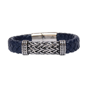 Julke Steven Stylish Leather Bracelet For Men JUL-BR02 Blue