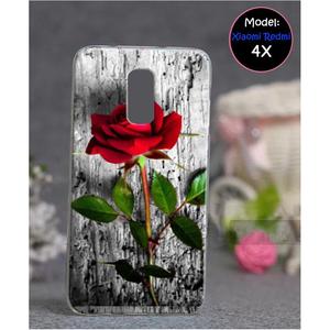 Xiaomi Redmi 4X Rose Style 2 Mobile Cover Multi Color