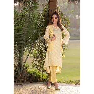 Sitara Studio 2 Pcs Unstitched Sapna Lawn Collection 6117 B Lemon