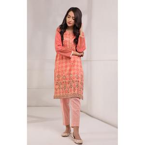 Oaks 2 Pcs Unstitched suit for Women OLE2PT-10337-A Pink