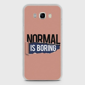 Skinlee Samsung J5 2016 J510 Cover Hybrid Case Soft Normal Is Boring Multicolor