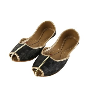 Plain Khussa For Women 2110 Black