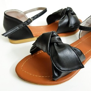 Flat Sandals for Women WI136 - Black