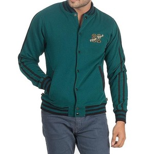 River Rock Cotton Fleece Embroidered Front Jacket ...