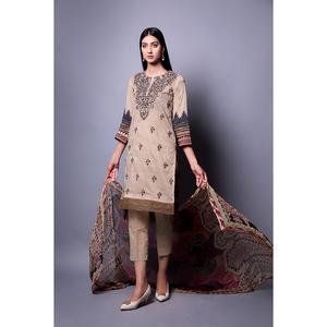 Oaks 3 Pcs Unstitched Suit for Women OLEC-3298-B Multicolor