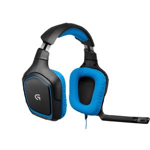 Logitech 7.1 DTS Headphone: X & Dolby Surround Sound Gaming Headset for PC, Playstation 4 G430 Blue