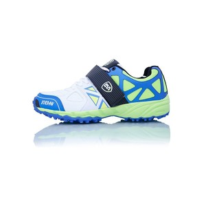 BS Cricket Shoes Jordan Green, Blue and White
