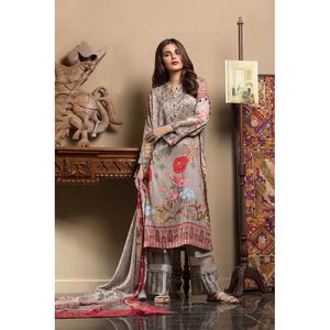 Oaks 2 Pcs Linen Unstitched Suit OWLD2P-3254 Multicolor