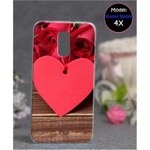 Xiaomi Redmi 4X Love Style 4 Mobile Cover Red