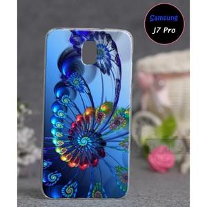 Samsung J7 Pro Floral Cover SAA-2491 Blue