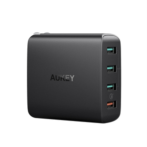 Aukey PA-T18 Amp 4 Port Wall Charger Black