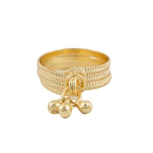 Challa Style Ring for Unisex J095 Golden