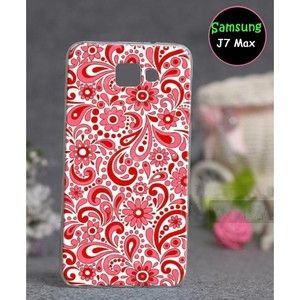 Samsung J7 Max Mobile Floral Cover SAA-5268 Red