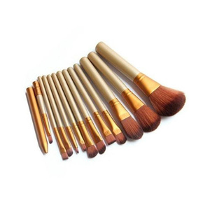 Pack Of 12 Cosmetic Brushes Golden