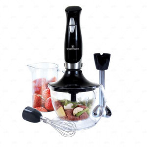 Westpoint Deluxe Hand Blender, Chopper and Beater 600W WF-4201 Black