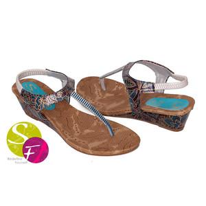 Small Heel Sandals for Women 355 - Blue