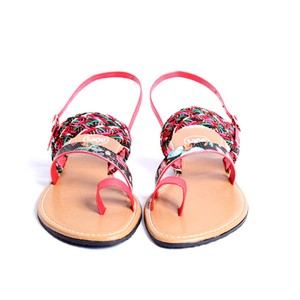 Sage Leather One Toe Sandals For Women 9122 Red