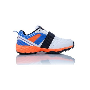 BS Cricket Shoes Rock Star White, Blue and Orange