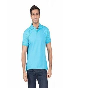 Polo Cotton T-Shirt for Men Blue