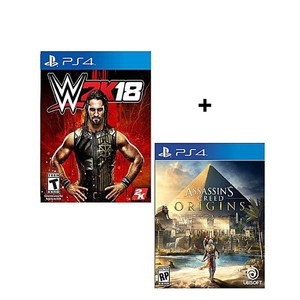Pack Of 2 - WWE 2K18 , Assassin's Creed Origins - ...