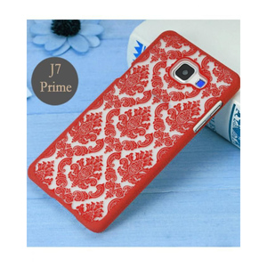 Fancy Pattern Phone Case For Samsung J7 Prime SA-1507 Red