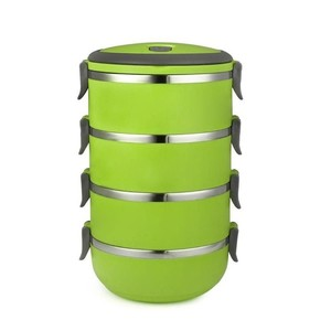 4 Layer Stainless Steel Lunch Box - Green