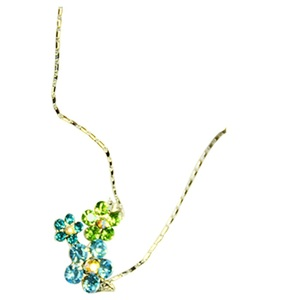 Fancimall Necklace for Women Deisy Green
