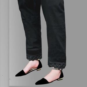 Estitch Laced Trouser For Women Black