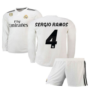 Real Madrid Kids Football Kit Shirt & Short Sa-43 White