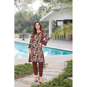 Sitara Studio 2 Pcs Unstitched Sapna Lawn Suit for Women 6136 B  Multicolor