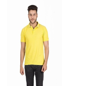 Polo Cotton T-Shirt for Men Yellow