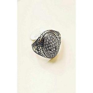 Micro Pave Zirconia Stones Ring For Men Golden & Black