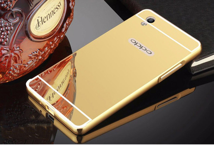 Oppo R9 Mobile Cover Gold