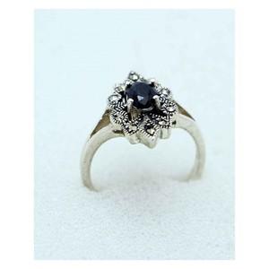 GILGIT BAZAR Sapphire Stone Ring GB1900 Black &amp ...